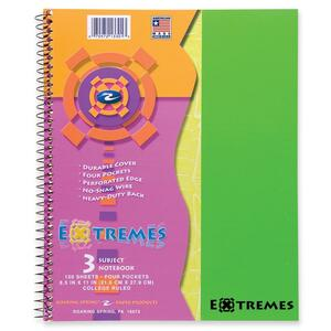 Roaring Spring Extremes 3-Subject Wirebound Notebook ROA13301
