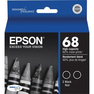 Epson DURABrite High Capacity Dual-Pack Ink Cartridges EPST068120D2