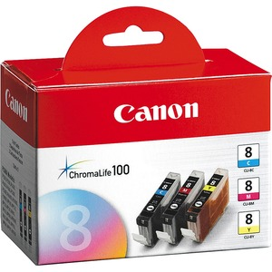 Canon CLI-8 Ink Cartridge - Cyan, Magenta, Yellow CNMCLI8CLRPK