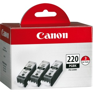 Canon PGI-220BK Ink Cartridge - Black CNMPGI220BK3PK