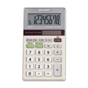 Sharp EL244TB Dual-Power Pocket Calculator SHREL244TB