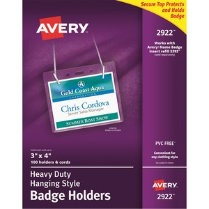 Avery Flexible Badge Holder AVE2922