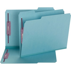 Smead 14937 Blue Colored Pressboard Fastener File Folders with SafeSHIELD Fasteners SMD14937