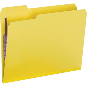 Smead 14939 Yellow Colored Pressboard Fastener File Folders with SafeSHIELD Fasteners SMD14939