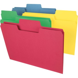 Smead 11987 Assortment Colored SuperTab File Folders with Oversized Tab SMD11987