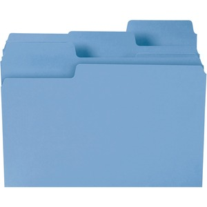 Smead 11986 Blue Colored SuperTab File Folders with Oversized Tab SMD11986