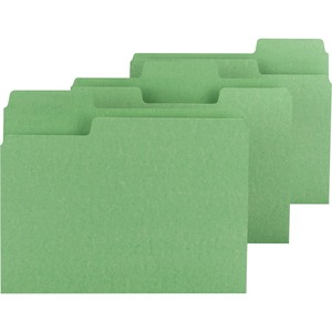 Smead 11985 Green Colored SuperTab File Folders with Oversized Tab SMD11985