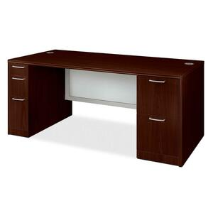 HON Attune 11899G Double Pedestal Desk with Modesty Panel HON11899GNN