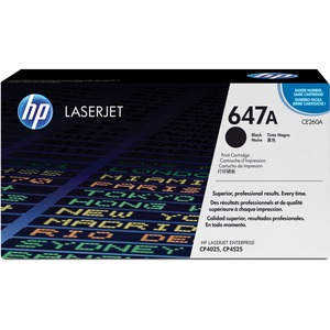 HP 647A (CE260A) Black Original LaserJet Toner Cartridge HEWCE260A