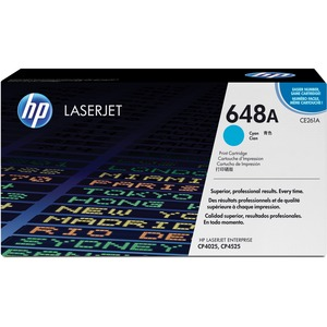 HP 648A Cyan Original LaserJet Toner Cartridge HEWCE261A