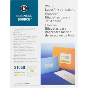 Business Source Mailing Laser Label BSN21050