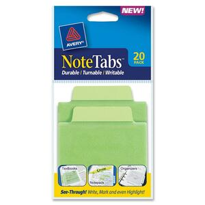 Avery NoteTabs Transparent File Tab AVE16329