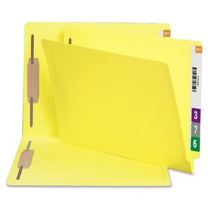 Smead 34173 Yellow 100% Recycled End Tab Colored Fastener File Folders SMD34173