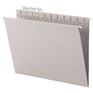 Smead 64092 Steel Gray TUFF Hanging Folders with Easy Slide Tab SMD64092