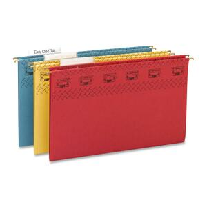Smead 64140 Assortment TUFF Hanging Folders with Easy Slide Tab SMD64140