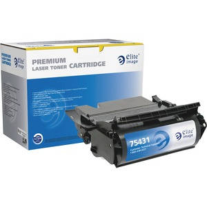 Elite Image MICR Toner Cartridge - Remanufactured for Lexmark - Black ELI75431