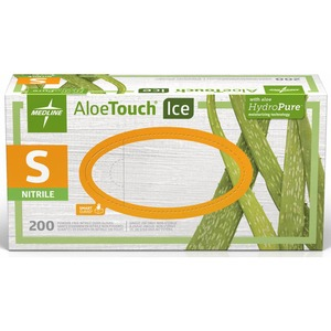 Medline Aloetouch Ice Examination Gloves MIIMDS195284