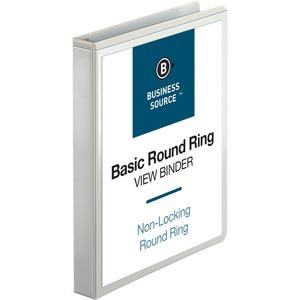 Business Source Round Ring View Binder BSN09953
