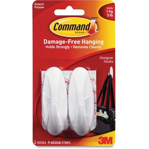 Command Strips and Designer Medium Hook MMM17081