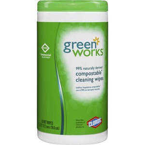 Green Works Natural Biodegradable Cleaning Wipes COX30380