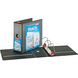Cardinal XtraLife ClearVue Non-Stick Locking Slant-D Ring Binder CRD26351CB