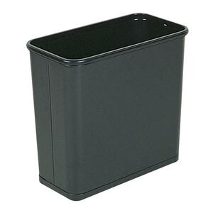Rubbermaid WB30R Open Top Wastebasket RCPWB30RBK