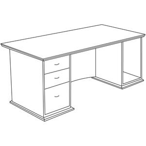 Lorell Contemporary 9000 Pedestal Desk LLR90016