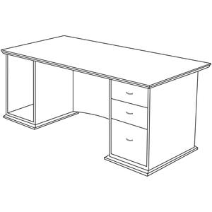 Lorell Contemporary 9000 Pedestal Desk LLR90015