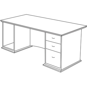 Lorell Contemporary 9000 Pedestal Desk LLR90014