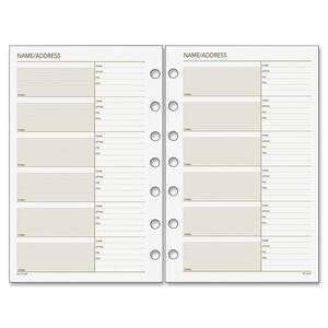 Day Runner Telephone/Address Planner Pages DRN011230
