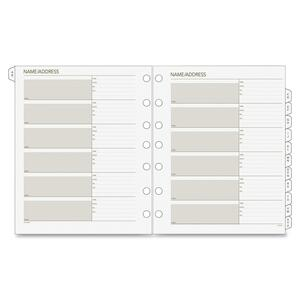 Day Runner Double-letter Tab Phone Address Refills DRN0280200