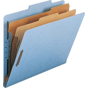 Smead 14021 Blue 100% Recycled Pressboard Colored Classification Folders SMD14021