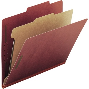 Smead 13724 Red 100% Recycled Pressboard Colored Classification Folders SMD13724
