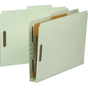 Smead 13723 Gray/Green 100% Recycled Pressboard Colored Classification Folders SMD13723