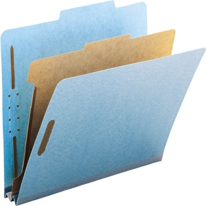 Smead 13721 Blue 100% Recycled Pressboard Colored Classification Folders SMD13721