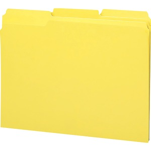 Smead 12938 Yellow 100% Recycled Colored File Folders SMD12938