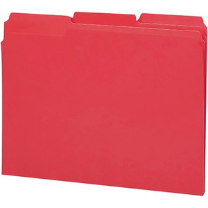 Smead 12738 Red 100% Recycled Colored File Folders SMD12738