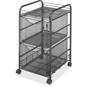 Safco Onyx Double Mesh Mobile File Cart SAF5212BL
