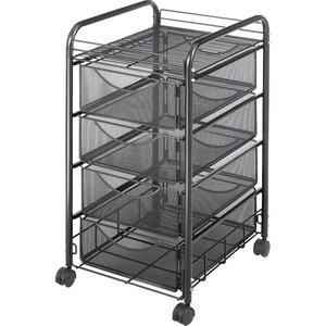Safco Onyx Double Mesh Mobile File Cart SAF5214BL