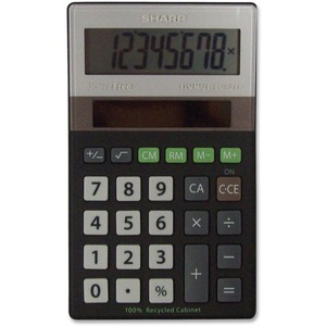 Sharp ELR277 Recycled Handheld Calculator SHRELR277BBK