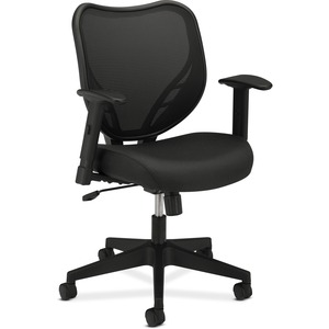 Basyx by HON Mesh Mid Back Management Chair BSXVL551VB10