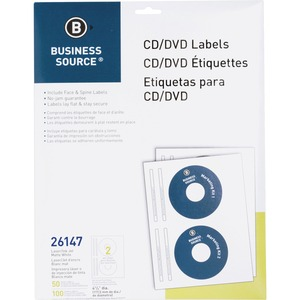 Business Source CD/DVD Laser/Inkjet Label BSN26147
