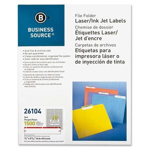 Business Source File Folder Label BSN26104