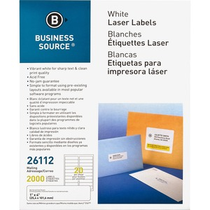 Business Source Mailing Laser Label BSN26112