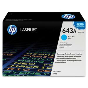 HP 643A Toner Cartridge - Cyan HEWQ5951AG