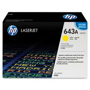 HP 643A (Q5952AG) Yellow Original LaserJet Toner Cartridge for US Government HEWQ5952AG