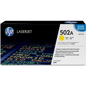 HP 502A (Q6472AG) Yellow Original LaserJet Toner Cartridge for US Government HEWQ6472AG