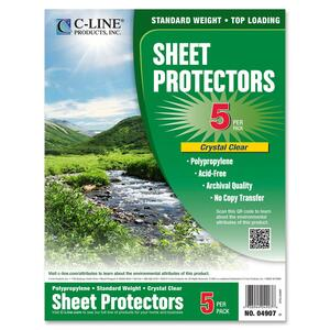 C-line Specialty Top-loading Sheet Protectors CLI04907