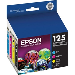 Epson DURABrite 125 Ink Cartridge - Black, Cyan, Magenta, Yellow EPST125120BCS