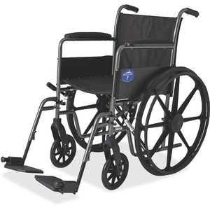 Medline Excel K1 Basic Full Length Permanant Arm Wheel Chair MIIMDS806150EE